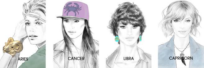 Elle.com Horoscope Girls